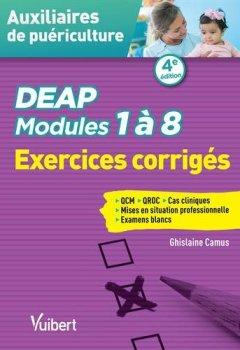 Livres Couvertures de DEAP - Modules 1 à 8 - Exercices corrigés - QCM - QROC - Situations cliniques