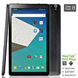 NeuTab N10 Plus 10.1 Inch Octa Core Tablet PC Google Android 5.1 Lollipop System 1GB RAM 16GB Nand Flash Bluetooth 4.0 HD Dual Camera HDMI Output Google Play Pre-installed 3D Game Supported Slim Design Black (Back to School Limited Time Offer)