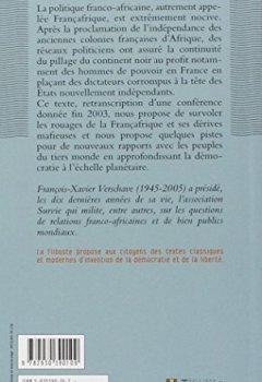 Livres Couvertures de De la Françafrique à la Mafiafrique