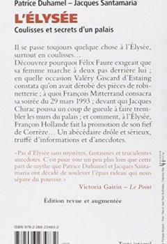 Livres Couvertures de L'Elysée, coulisses et secrets d'un palais