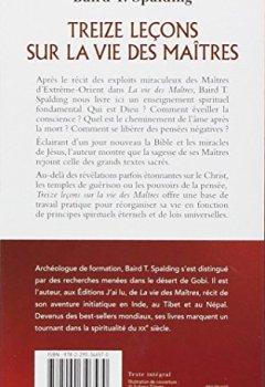 Livres Couvertures de Treize leçons sur la vie des maîtres