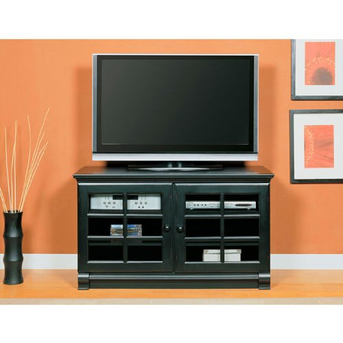 Image of Altra Framed Door TV Stand, 47-6/10 inch W x 21-3/10 inch D x 27-6/10 inch H, Black (ALT-1102096)