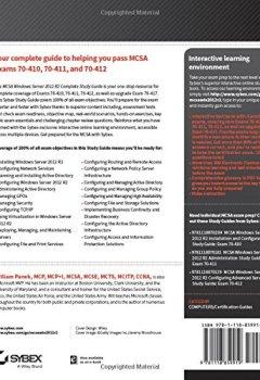 Livres Couvertures de MCSA Windows Server 2012 R2 Complete Study Guide: Exams 70-410, 70-411, 70-412, and 70-417