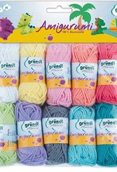 Livres Couvertures de Gründl Amigurumi - Set II  Fil à tricoter Coton Multicolore 19,50 x 18,00 x 2,60 cm