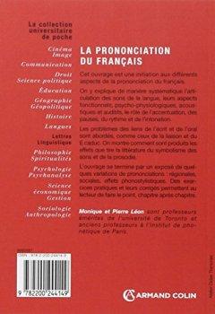 Livres Couvertures de La prononciation du français