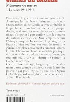 Livres Couvertures de Mémoires de guerre - Le salut : 1944-1946