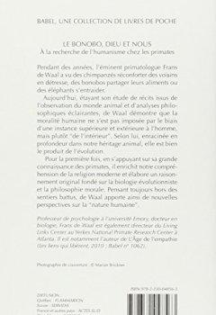 Livres Couvertures de Le bonobo, Dieu et nous : A la recherche de l'humanisme chez les primates