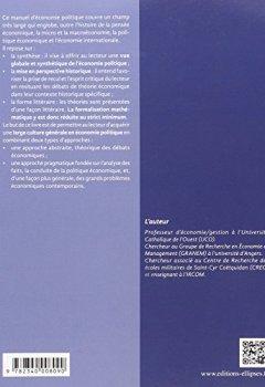 Livres Couvertures de Manuel d'Économie Politique