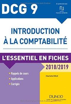 Livres Couvertures de DCG 9 - Introduction à la comptabilité 2018/2019 - L'essentiel en fiches