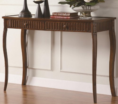 Image of Console Table Sofa Table with Drawers in Brown Finish (VF_900964)