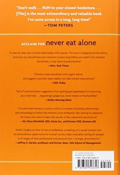 Livres Couvertures de Never Eat Alone, Expanded and Updated: And Other Secrets to Success, One Relationship at a Time