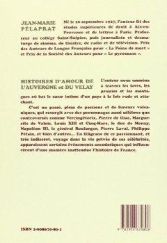 Livres Couvertures de Histoires d'amour d'Auvergne et du Velay