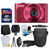 Canon-PowerShot-SX620-HS-Digital-Camera-Red-Transcend-32GB-Memory-Card-Point-Shoot-Camera-Case-Card-Reader-Card-Wallet-Cleaning-Kit-Screen-Protectors-Hand-Grip-Deluxe-Accessory-Kit