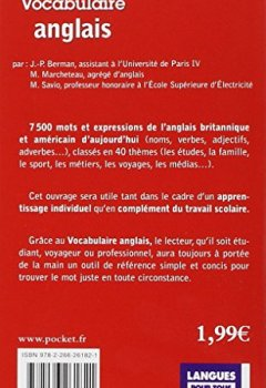 Livres Couvertures de Vocabulaire anglais à 1.99 euros