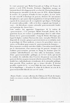 Livres Couvertures de Sécurité, Territoire, Population