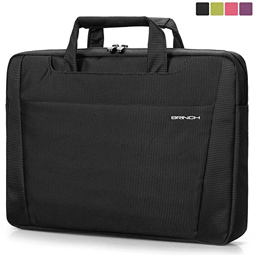BRINCH-Nylon-Lightweight-Durable-Laptop-Shoulder-Case-Carrying-Messenger-Bag-Briefcase-For-13-14-Inch-Laptop-Notebook-MacBook-Chromebook-Computers-with-Shoulder-Strap-and-Pockets