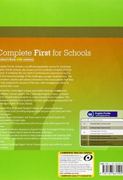Livres Couvertures de Complete First for Schools Student's Book with Answers with CD-ROM