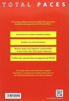 Livres Couvertures de PACES Total UE7 en QCM Santé Publique Histoire de la Médecine Éthique Médicale 800 QCM Corrigés et Commentés