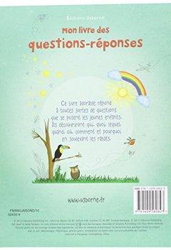 Livres Couvertures de Mon livre des questions-réponses - Livre à rabats