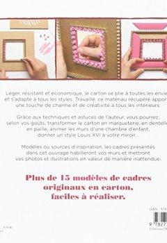 CADRES DE CARTON, 15 REALISATIONS