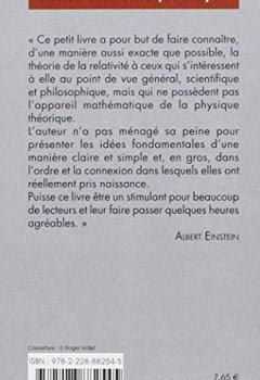 Livres Couvertures de La Relativité
