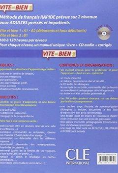 Livres Couvertures de Vite et bien 1 - Niveaux A1/A2 - Livre + CD audio