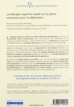 Livres Couvertures de La thérapie cognitive basée sur la pleine conscience pour la dépression : Une nouvelle approche pour prévenir la rechute