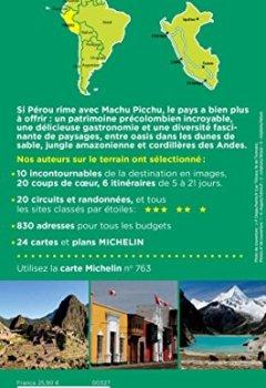 Livres Couvertures de Guide Vert Pérou Michelin