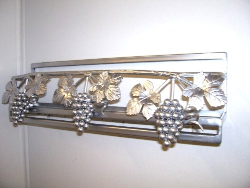 Image of Wall grapevine spice lid pot rack Amish Made (wgrapespice)