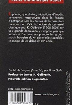 Livres Couvertures de La crise de 1929 Anatomie d'une catastrophe financière.
