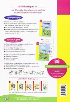Livres Couvertures de Mathématiques GS Méthode de Singapour : Guide pédagogique