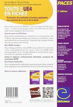Livres Couvertures de Toute l'UE4 en fiches - PACES - Biostatistiques