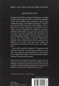 Livres Couvertures de Défense de tuer : Une enquête de l'inspecteur-chef Armand Gamache