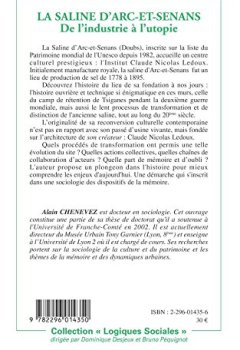 Livres Couvertures de La saline d'Arc-et-Senans : De l'industrie à l'utopie