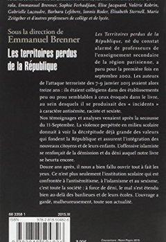 Livres Couvertures de Les territoires perdus de la République