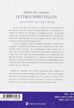Livres Couvertures de Lettres spirituelles