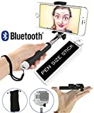 Selfie Stick, Ultra Portable 5-in-1 Monopod with Mirror & Remote & Selfie Flash App | iPhone 6 Plus, Iphone 6 Galaxy S6 S5 Popular Action Camera POV Pole Camera | Get the Smallest Selfie Stick on the Market NOW!
