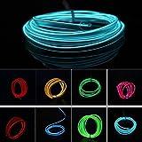 3 メートル ネオン led ロープ ライト +出力コネクタ インバータ コントローラ用カー モーターサイクル ホームショップパーティー パレード装飾 Blue