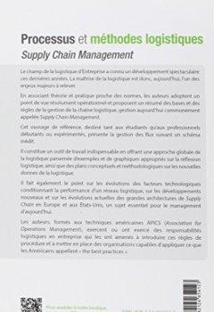Livres Couvertures de Processus et méthodes logistiques - supply chain management