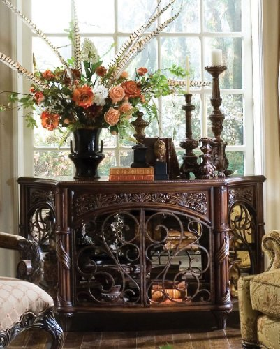 Image of Console Table by AICO - Deep English Tea (N76260-57) (N76260-57)