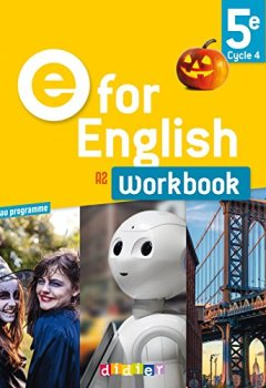 Livres Couvertures de E for English 5e (éd.2017) - Workbook