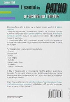 Livres Couvertures de L'essentiel des PATHO: par spécialités pour l'infirmière