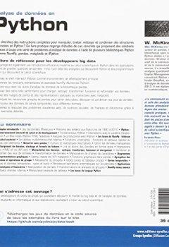 Livres Couvertures de Analyse de données en Python : Manipulation de données avec pandas, NumPy et IPython