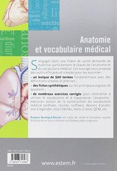 Livres Couvertures de Anatomie et Vocabulaire Medical