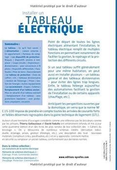 Livres Couvertures de Installer un tableau électrique