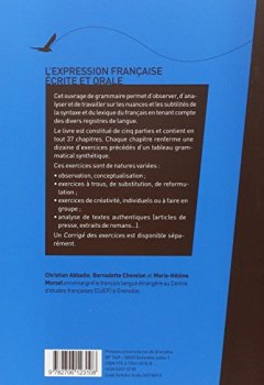 Portada del libro deL'expression française écrite et orale (Français langue étrangère)