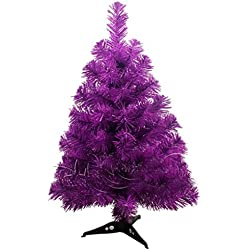 WMSTUDIO 23.6 Inch Small Encryption Christmas Tree Purple