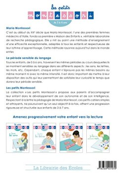 Livres Couvertures de Les petits Montessori - Je trace les lettres