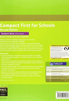 Livres Couvertures de Compact First for Schools Student's Book with Answers with CD-ROM