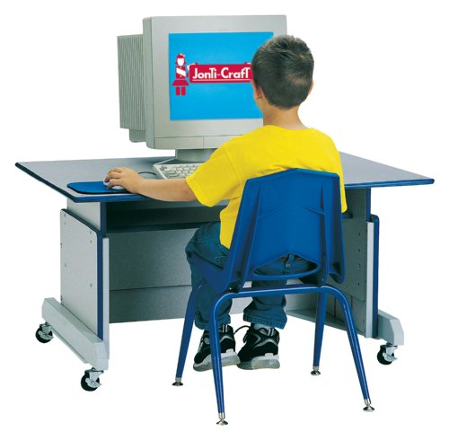 Picture of Comfortable Computer Table - Blue - School & Play Furniture (B002LRSZPM) (Computer Tables)